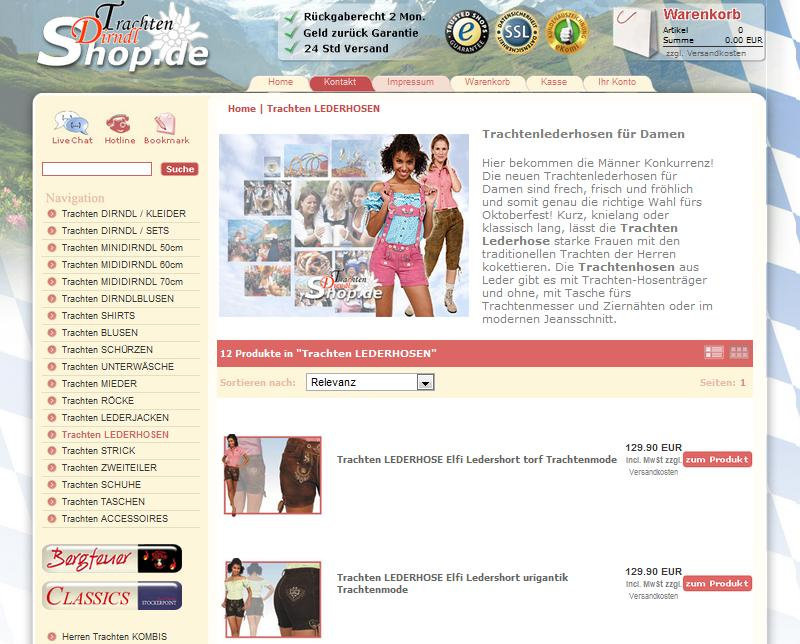 Trachten-dirndl-shop.de Online-Shop