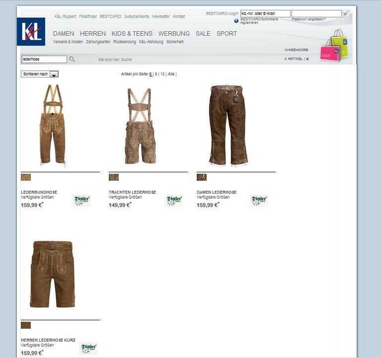 KL-Ruppert.de Online-Shop