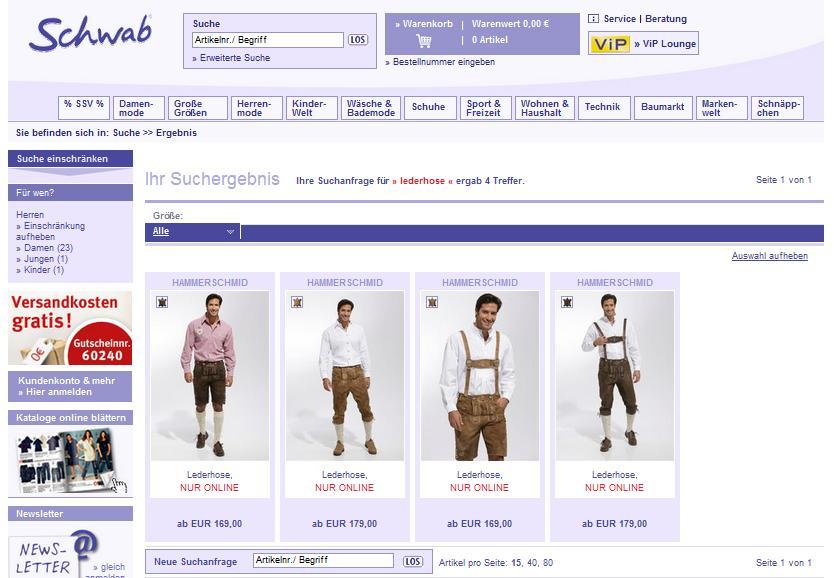 Schwab.de Online-Shop