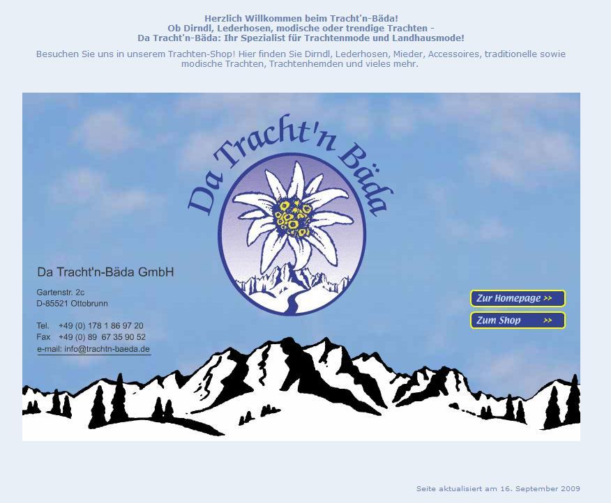 trachtn-baeda.de Online-Shop